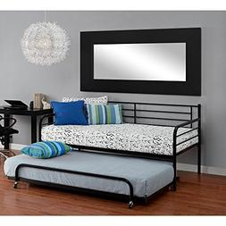 best-one Bunk Beds Kids Black Metal Twin Bed Roll-Out Trundl