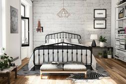 Novogratz 4044029N Bushwick Metal Bed, Full, Black