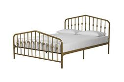 Novogratz Bushwick Metal Bed, Modern Design, Full Size - Gol