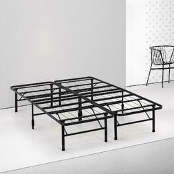 Spa Sensations by Zinus - Steel SmartBase Bed Frame Black, M