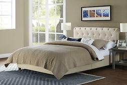 RealRooms Calusa Upholstered Bed Frame, Multiple Colors, TWI