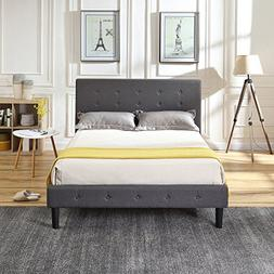 Classic Brands DeCoro Cambridge Upholstered Platform Bed | H
