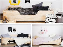 Children BOX Bed - Frame Bed Kids Beds 21 Dimension 3 types