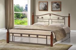 HODEDAH IMPORT Hodedah Complete Bronze Metal Bed with Headbo
