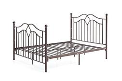 Hodedah Complete Metal Full-Size Bed with Headboard, Footboa