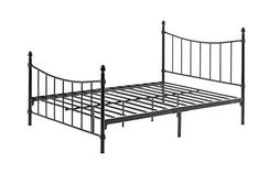 Hodedah Complete Metal Bed with Headboard, High Footboard, S