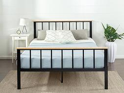 contemporary metal wood platform bed