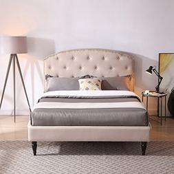 Classic Brands DeCoro Cranleigh Upholstered Platform Bed | H