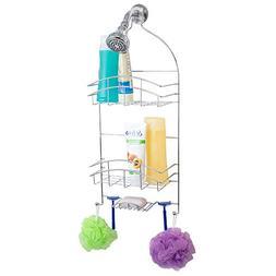 Home Basics Crescent Shower Bath Caddy Organizer with Hangin