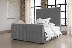 DHP Dante Upholstered Bed with Luxurious Velvet Upholstered