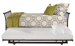 Hillsdale Furniture Daybed with Trundle in Black Sparkle Fin