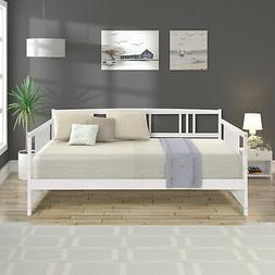 Daybed Full Size Wood Bed Frame W/Slats Living Room Day Slee
