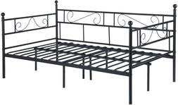 GreenForest Daybed Twin Size Bed Frame with Headboard and St