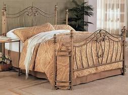Decorative Queen Size Iron Bed by Coaster Furniture
