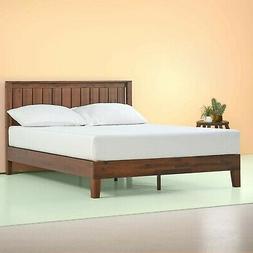 Zinus 12 Inch Deluxe Solid Wood Platform Bed + Headboard Ant