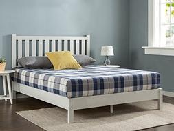 Zinus Deluxe Wood Platform Bed with Slatted Headboard / No B