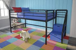DHP Junior Twin Loft Bed w/ Storage Steps- 5512198