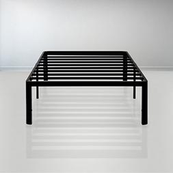 PrimaSleep 18 Inch Tall Metal Bed Frame with Dura Steel Slat