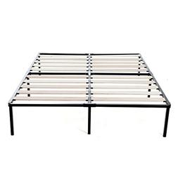 14 Inch Easy Assembly Metal Bed Frame with Wood Slat, Box Sp