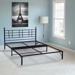 EASY SETUP BIFOLD Metal Bed Frame w/ Built in Headboard -No