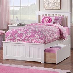 Atlantic Furniture Eco-Friendly Twin XL Bed with 2-Urban Bed