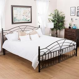 Edsel Bedroom Furniutre ~ King Size Black Finish Iron Bed Fr