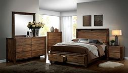 ELKTON Collection Modern Eastern King Size Bed w Storage Pla