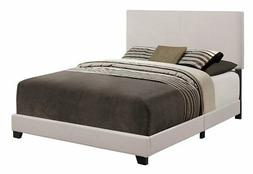 Crown Mark Upholstered Panel Bed in Stone Khaki, Queen