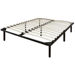Classic Brands Europa Wood Slat and Metal Platform Bed Frame