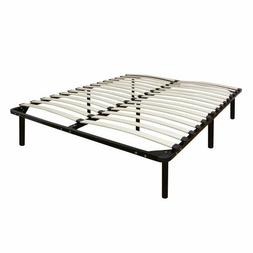 Europa Wood Slat and Metal Platform Bed Frame Mattress Found