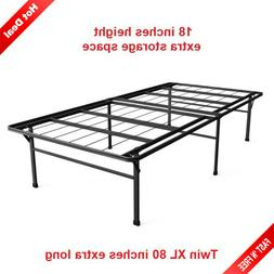18 Inch Bed Frame Extra Long Twin XL Metal Platform Heavy Du