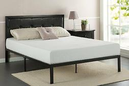 Zinus Faux Leather Classic Platform Bed Frame with Steel Sup