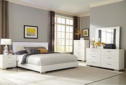 Felicity Eastern King Size Bed w LED Back Light HB Low Profi