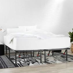 "AmazonBasics Foldable, 14"" Metal Platform Bed Frame w/ Tool-"