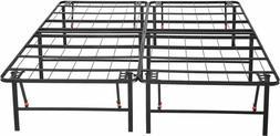 "AmazonBasics Foldable, 18"" Metal Platform Bed Frame w/ Tool-"