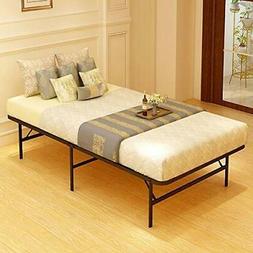 JURMERRY Foldable Bed Frame Metal Platform Base 18Inch Box
