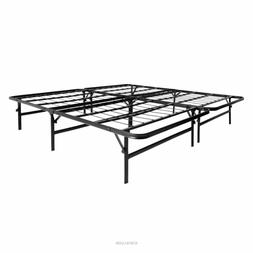 Foldable King Size Metal Platform Bed Frame ONLY Mattress Fo