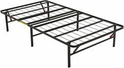 AmazonBasics Foldable Metal Platform Bed Frame for Under-Bed