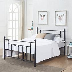 Ikea King size Bed frame with storage & headboard, black, Lu