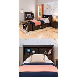 Prepac  Fremont Twin Bed and Headboard - Espresso