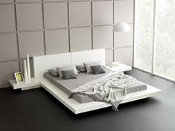 Matisse Fujian Modern Platform Bed + 2 Night Stands Queen