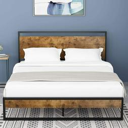 Full Bed Frame with Headboard/Platform Metal Bed Frame with