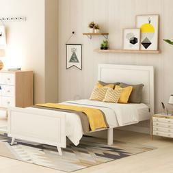 Full/Queen King  Upholstered Platform Bed Frame W/ Wooden Sl