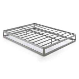 Full Size 9 Inch Metal Platform Bed Frame, Round Type - Crow