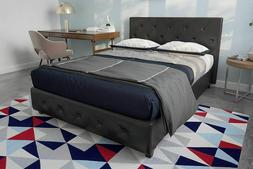 Full Size Bed Frame And Mattress Set Platform Faux Leather 8