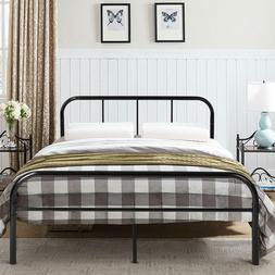 GreenForest Full Size Bed Frame Metal Mattress Foundation No