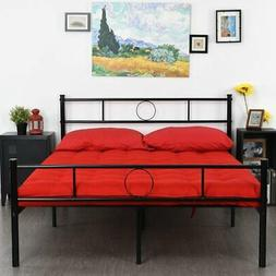 GreenForest Full Size Bed Frame Platform with Headboard and