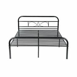 GreenForest Full Size Bed Frame with Headboard and Stable Me