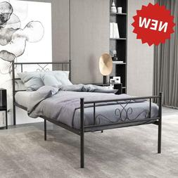 Greenforest Full Size Bed Frame With Headboard Metal Platfor
