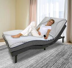 Full Size Electric Bed Frame Adjustable Base Massage Wireles